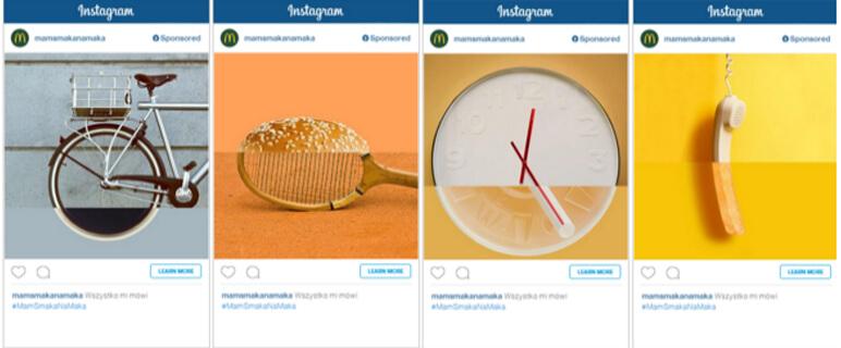 Przykład reklamy na Instagramie