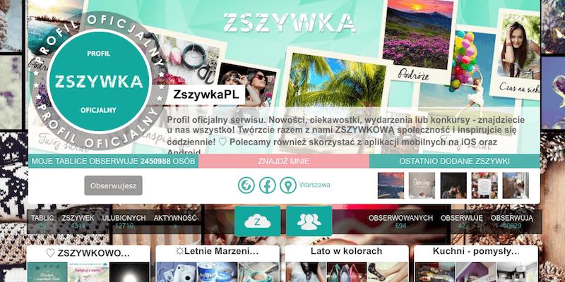 Zszywka profil oficjalny