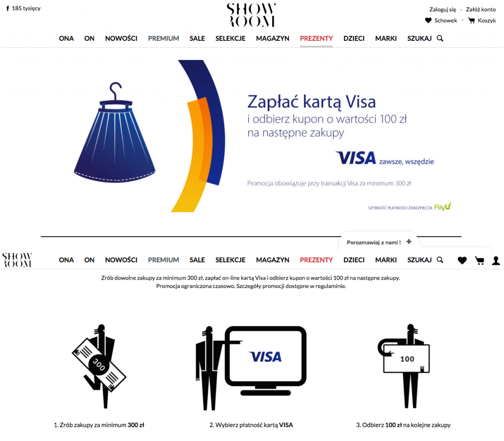 Visa z showroom thank you page