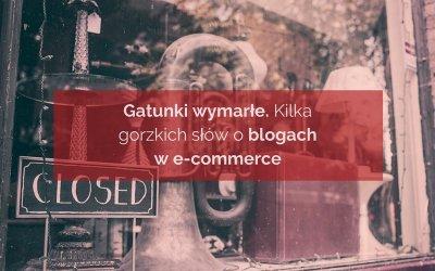 Blogi w e-commerce. Kilka słów o polskiej blogosferze.