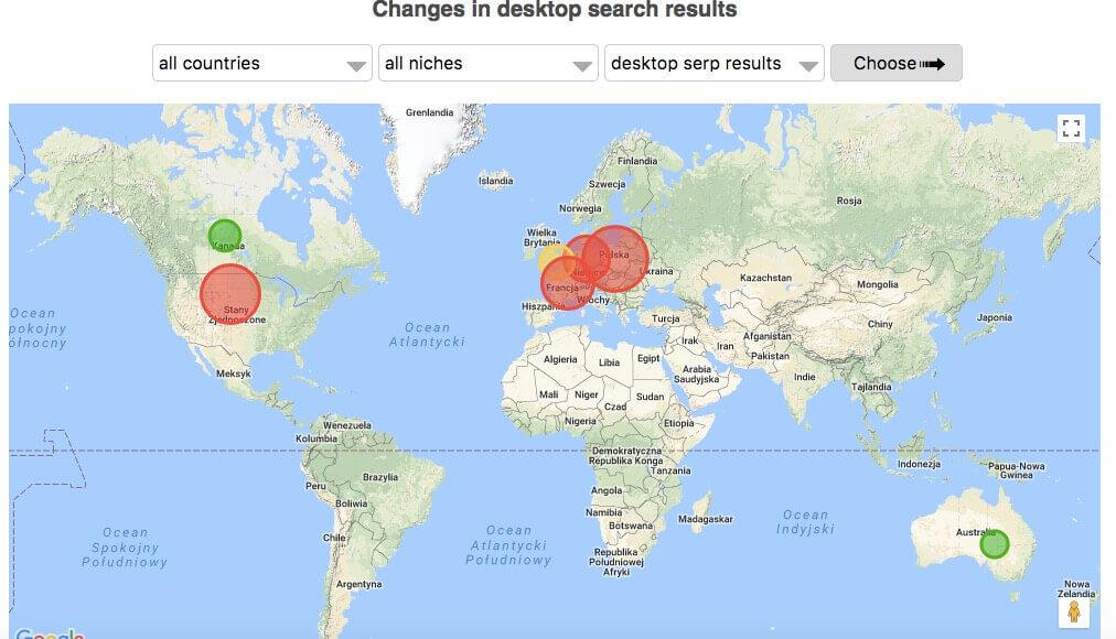 serp.watch - zmienność wyników wyszukiwania na świecie