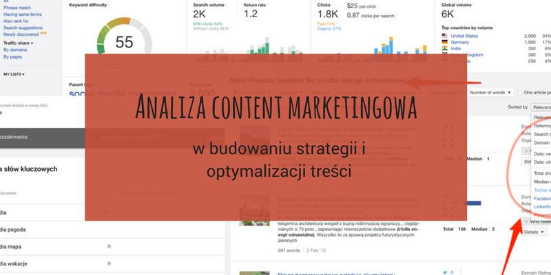 Plan contentowy poparty danymi pod kątem SEO i social media