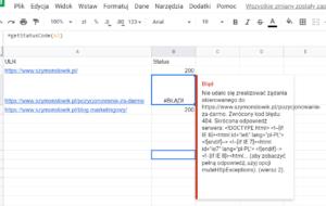 formula getstatuscode SEO
